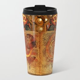 Open the Book of the Occult Travel Mug