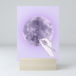 Purple Selene Mini Art Print