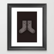 Sad Socks Framed Art Print