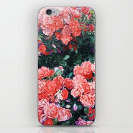 Psychedelic summer florals iPhone Skin