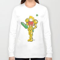samus Long Sleeve T-shirts featuring SAMUS ARAN by FoxBoy