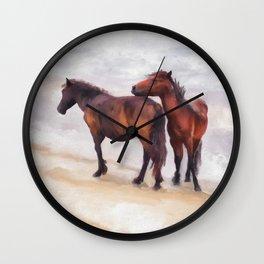 Beach Buddies Wall Clock