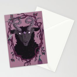 Goat Wreath Stationery Cards