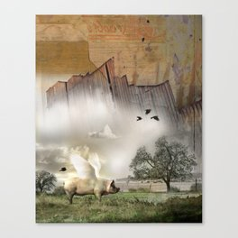 Pig with Wings Canvas Print
