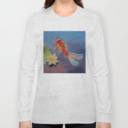 Koi on Blue and Mauve Long Sleeve T-shirt