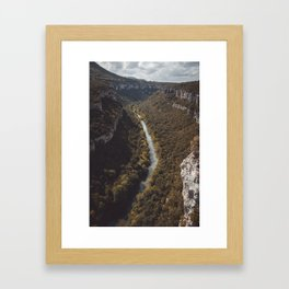 Ebro river Framed Art Print