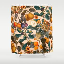 Vintage Fruit Pattern IX Shower Curtain