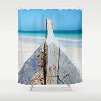 andreas preis Shower Curtains featuring CONTRAST by Catspaws