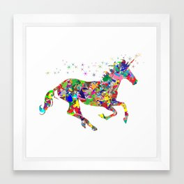 Unicorn Sparkles Framed Art Print