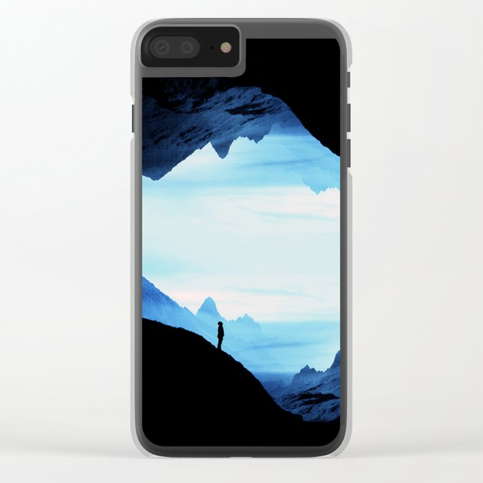 Blue Wasteland Isolation Clear iPhone Case