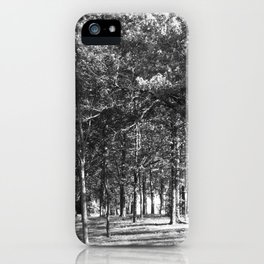 Black-and-White Woods iPhone Case