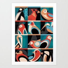 Bird Calendar 2015 Art Print