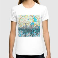 houston T-shirts featuring houston city skyline by Bekim ART