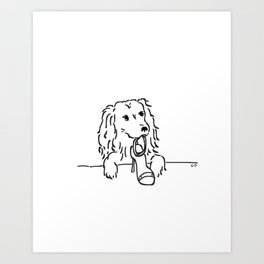 City Dogs {Shoe Diva} Art Print
