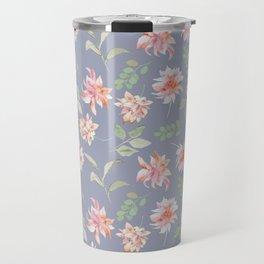 Blue Moody Florals Travel Mug