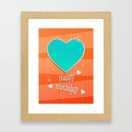 Birthstones December Blue Turquoise Heart Shaped Birthday Framed Art Print