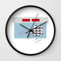 sneakers Wall Clocks featuring sneakers by skip ad