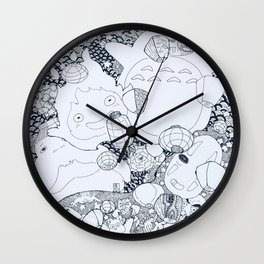 Ghibli-Inspired Collage Wall Clock