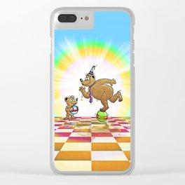 Admiring Daddy Bear Clear iPhone Case