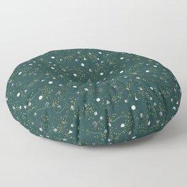 Polyhedral Dice- Secret Garden Floor Pillow