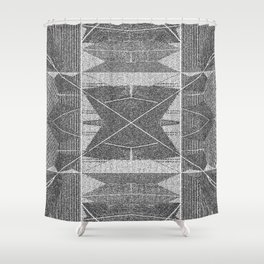 BW pixalated Shower Curtain