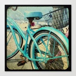 Aqua Bike Canvas Print