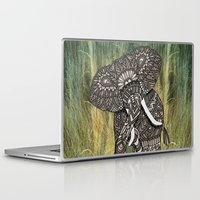 ornate elephant Laptop & iPad Skins featuring Ornate Elephant by ArtLovePassion