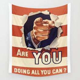 Are You Doing All You Can? Wall Tapestry