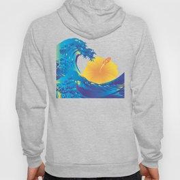 Hokusai Rainbow & Hibiscus_Y  Hoody