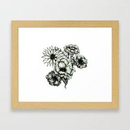 Floral Ink III Framed Art Print