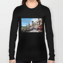 Sidewalk Cafe at Calvi France Long Sleeve T-shirt
