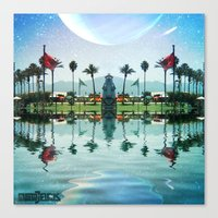 coachella Canvas Prints featuring Coachella Oasis by Osojack