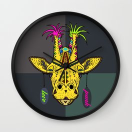 Punk Giraffe Wall Clock