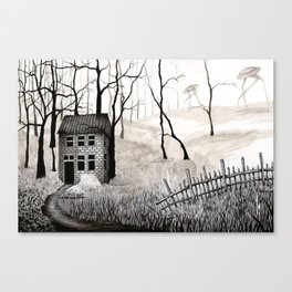 Walkers B&W Canvas Print