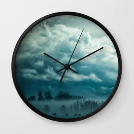 Cloudy Nature Wall Clock