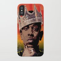 kendrick lamar iPhone & iPod Cases featuring King Kendrick by Tecnificent