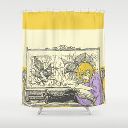 Leave Me Alone, I'm Reading (and I'm Blonde) Shower Curtain