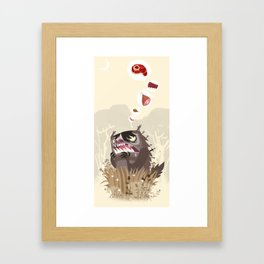 The Meat Freak Framed Art Print