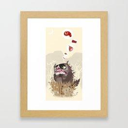 The Meat Freak Framed Art Print