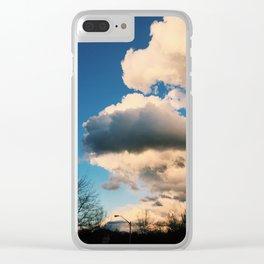 Suburban Sky Clear iPhone Case