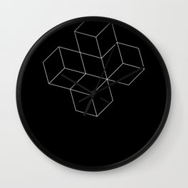 Cubes - White Wall Clock