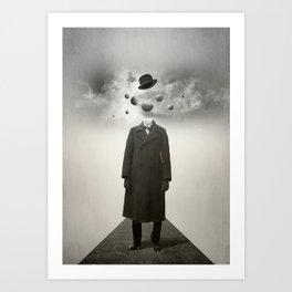 Head in the clouds I  Art Print