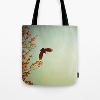 wings Tote Bags featuring Wings by Alicia Bock
