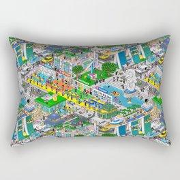 Pixels X Singapore Rectangular Pillow
