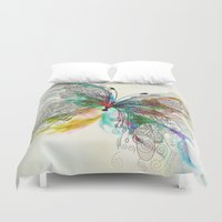 butterfly Duvet Covers featuring Butterfly by Klara Acel