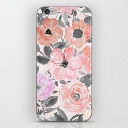 Elegant simple watercolor floral iPhone Skin