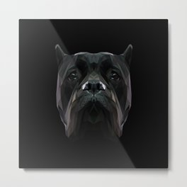 Cane Corso dog low poly. Metal Print