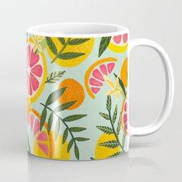Grapefruit Blooms – Mint Palette Coffee Mug