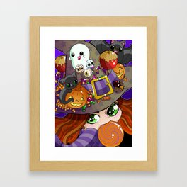 Candy Witch Framed Art Print