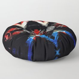 Shifted Red, White, & Blue Floor Pillow